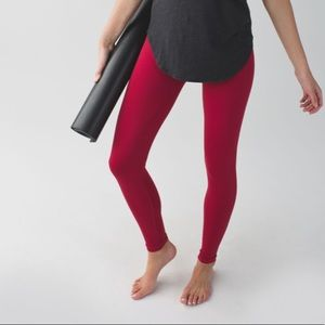 Lululemon Zone In Tight Leggings Cranberry